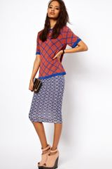 ASOS Collection Geo Print Pencil Skirt  - Lyst
