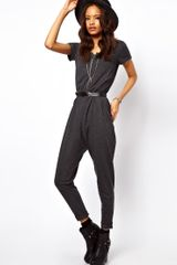 ASOS Collection Asos Onesie Jumpsuit with Zip Front - Lyst
