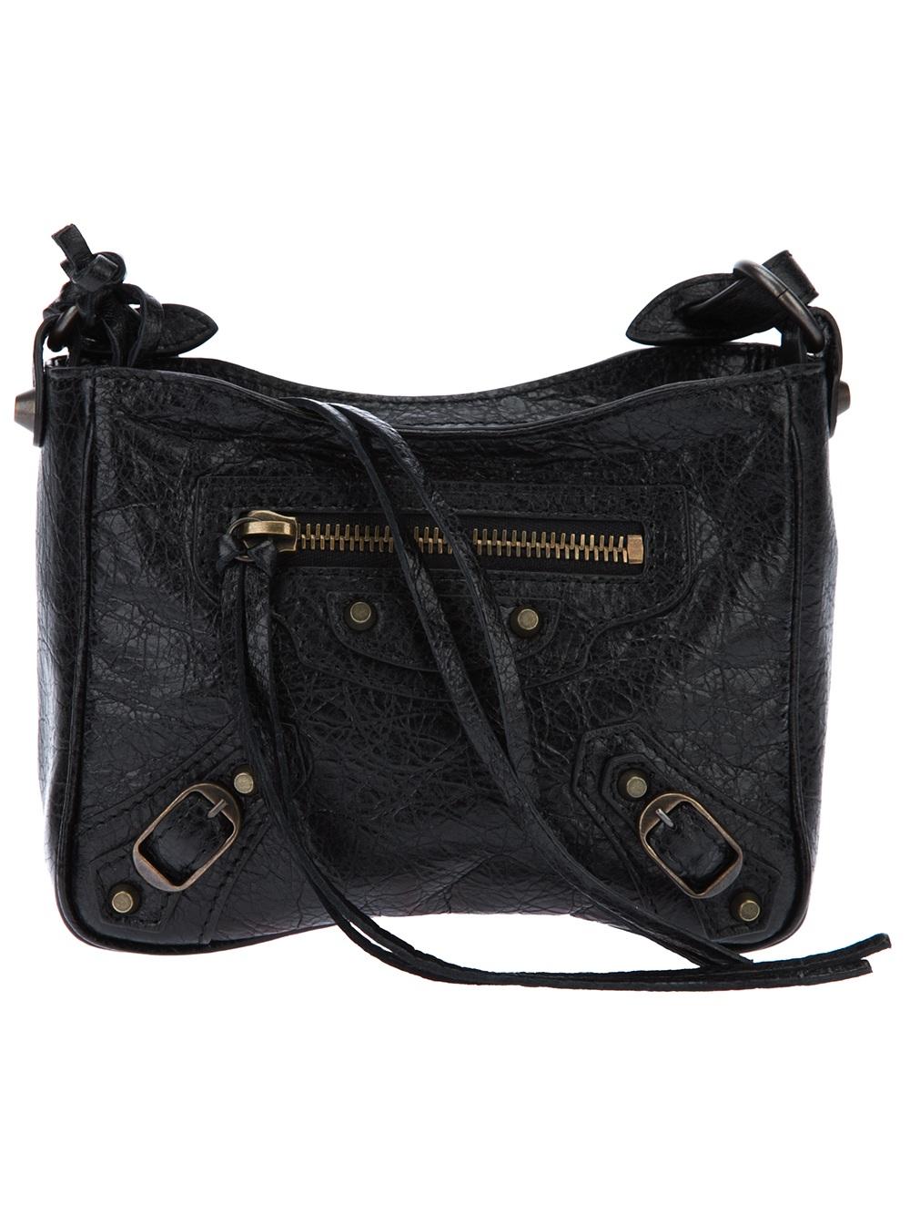 0af56dc410 Balenciaga Mini City Shoulder Bag in Black - Lyst