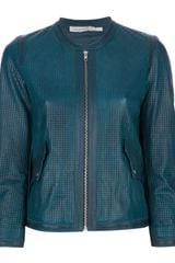 Etoile Isabel Marant Calvin Perforated Leather Jacket