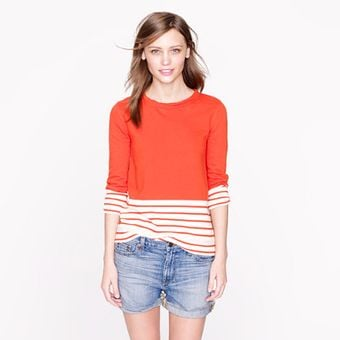 J.Crew Fleece Nautical Colorblock Popover  - Lyst
