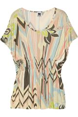 M Missoni Printed Jersey Top - Lyst