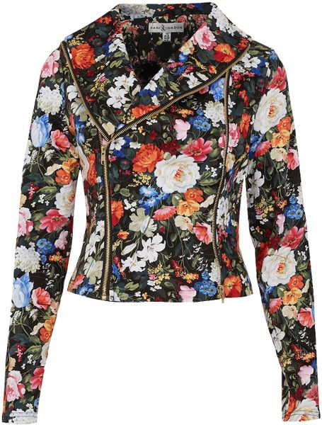Topshop Printed Jacket By Rare in Multicolor (multi) - Lyst