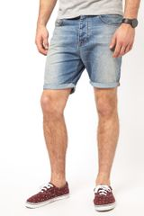 Asos Asos Denim Shorts In Slim Fit - Lyst