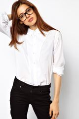 ASOS Collection Asos Shirt with Curved Placket Panel - Lyst