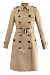 Burberry Prorsum Light Cottontwill Doublebreasted Trench Coat - Lyst