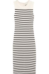 By Malene Birger Higon Striped Cotton-jersey Midi Dress - Lyst