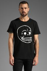 Cheap Monday Bruce Printed Skull Tee - Lyst