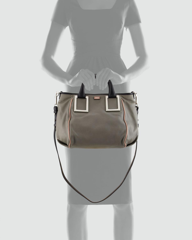 Chlo¨¦ Ethel Medium Satchel Bag in Gray   Lyst