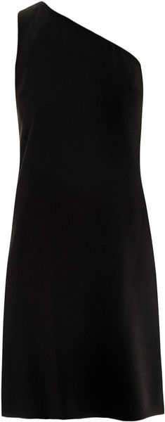 DKNY One Shoulder Crepe Dress - Lyst