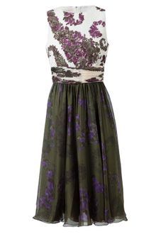 Giambattista Valli Embossed Cotton and Floral Printed Silk Dress - Lyst
