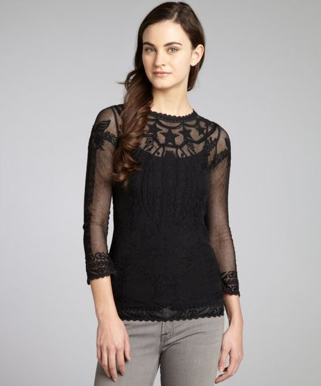 Zara Lace Cape Blouse 107
