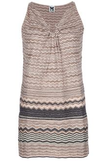 M Missoni Knit Striped Dress - Lyst