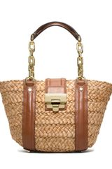 Michael by Michael Kors Medium Deneuve Straw Tote - Lyst