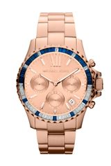 Michael by Michael Kors Midsize Rose Golden Stainless Steel Everest Chronograph Glitz Watch - Lyst