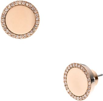 Michael Kors Pave Slice Stud Earrings - Lyst