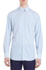 Paul Smith Tailored Fit Bengal Striped Shirt - Lyst