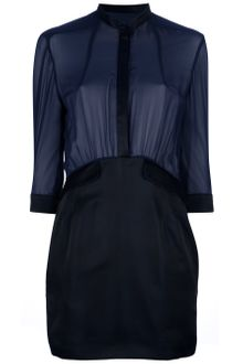 Pierre Balmain Sheer Shirt Dress - Lyst