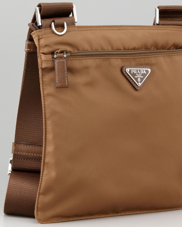 Lyst - Prada Vela Crossbody Messenger Bag in Brown 54c9d242f5a6f