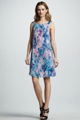 Rebecca Taylor Floral Silk Shift Dress - Lyst
