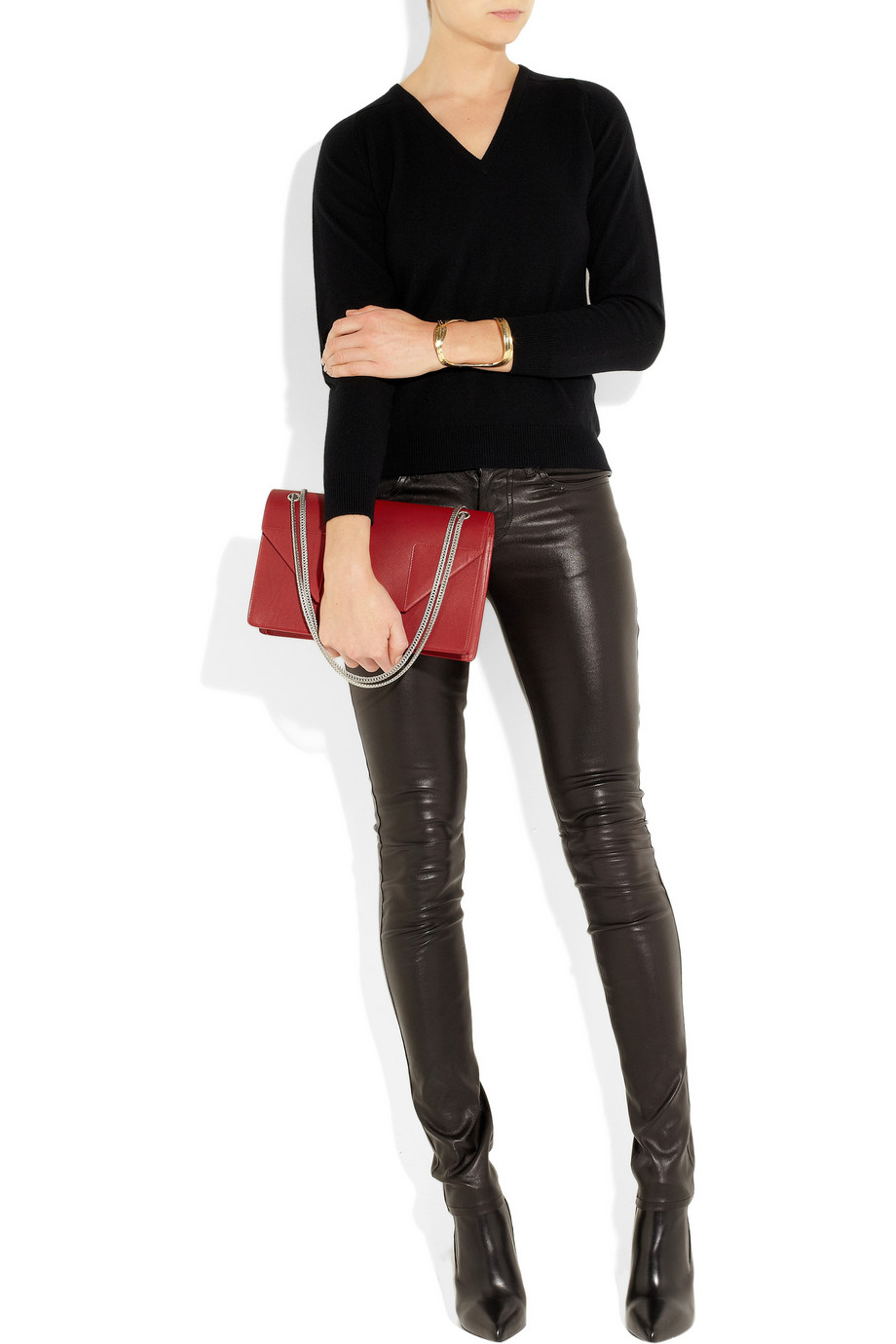 y saint laurent borse - classic small betty bag in black suede and leather
