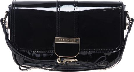 Ted Baker Skapari Patent Crossbody Bag in Black (00black)