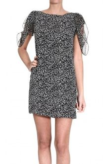 Yves Saint Laurent Shortsleeve Printed Dress - Lyst