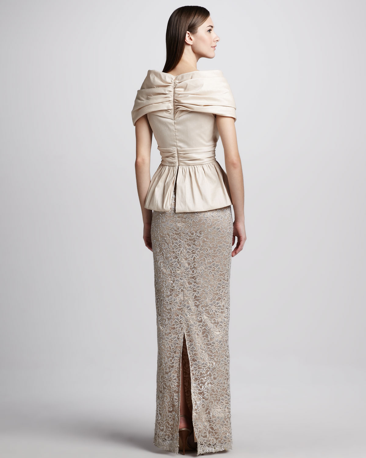 Modern Badgley Mischka Peplum Gown Adornment - Wedding and flowers ...