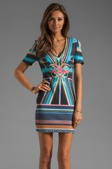 Clover Canyon Printed Neoprene Dress - Lyst