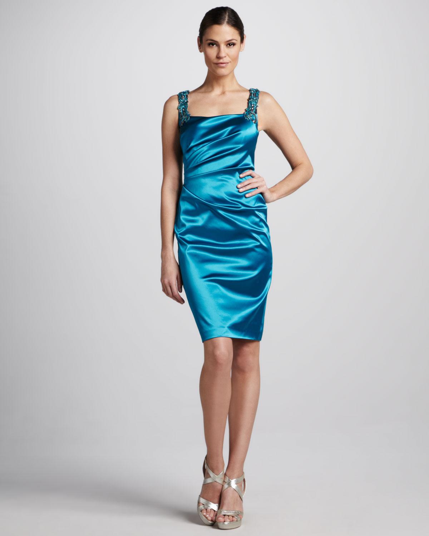 Ausgezeichnet Aqua Blue Cocktail Dresses Ideen - Brautkleider Ideen ...