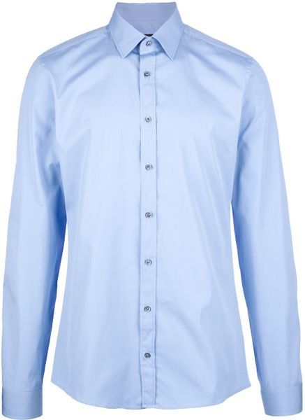 Gucci Classic Shirt in Blue for Men