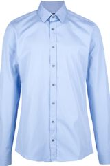Gucci Classic Shirt in Blue for Men - Lyst