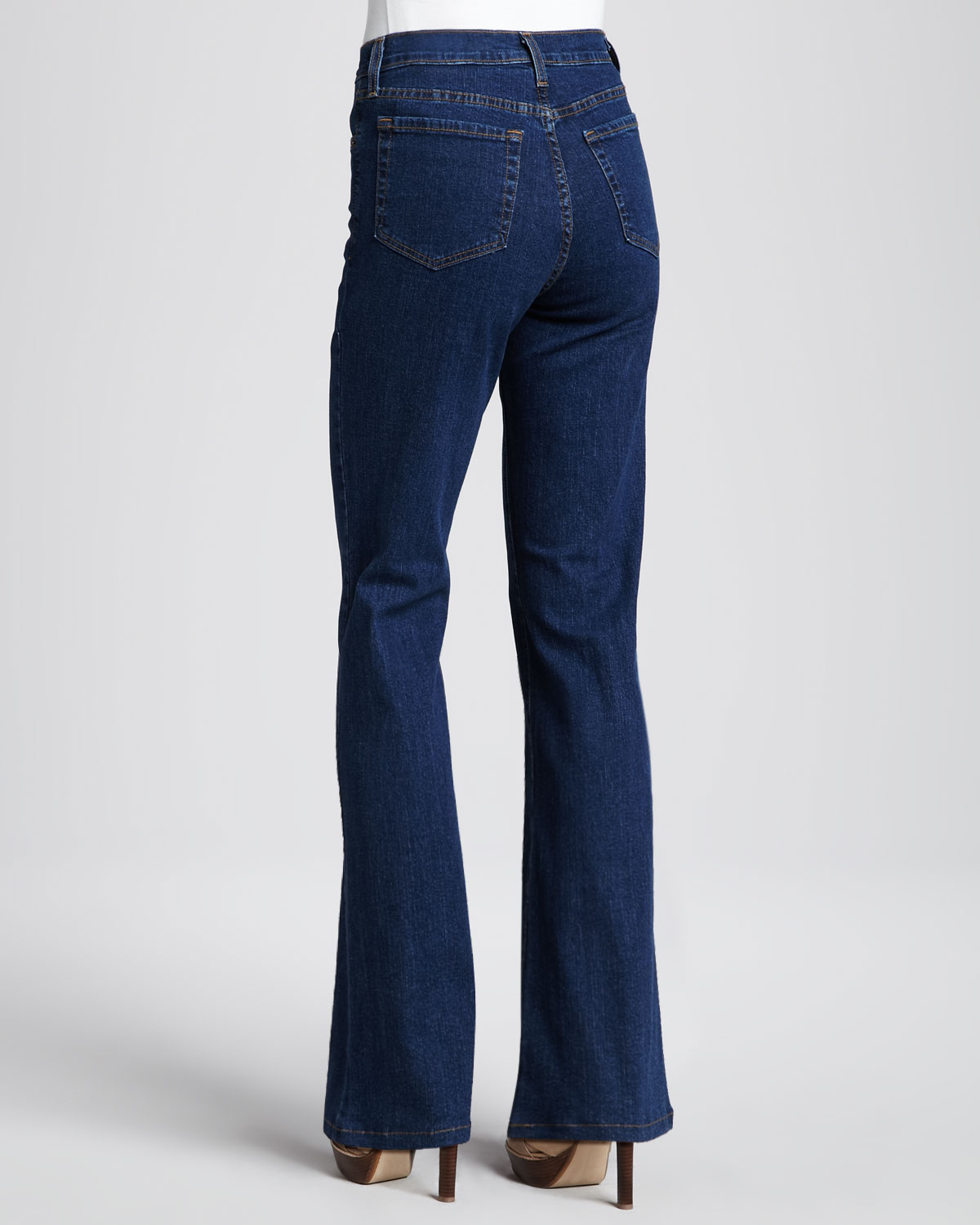 Dark Blue Bootcut Jeans - Jeans Am