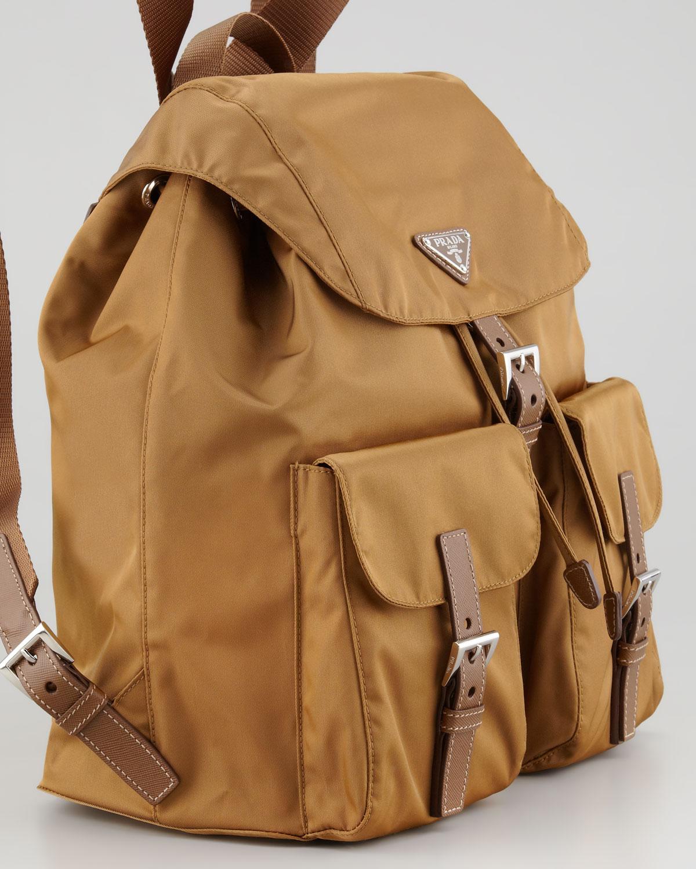 1c0b4c083001 Prada Large Nylon Backpack in Brown - Lyst