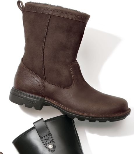 Awesome UGG Australia Womens 39Elsa39 Brown Leather Waterproof Boot  New