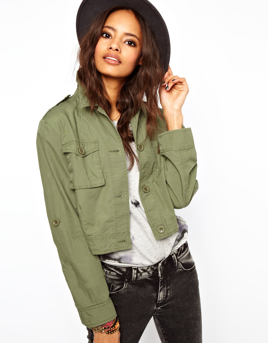 Utility Jacket Jackets And Nike: Asos Cropped Utility Jacket In Natural