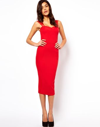 Asos Pencil Dress with Eyelash Lace - Lyst