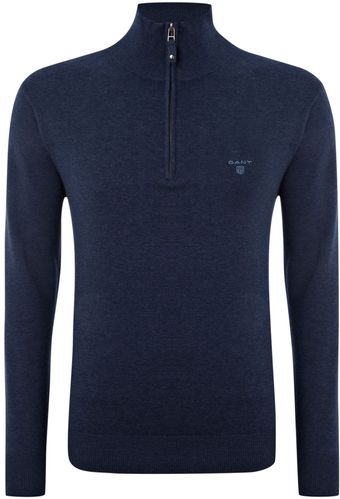 Gant Cotton Half Zip Jumper - Lyst