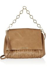 Miu Miu Matelassé Leather Shoulder Bag - Lyst
