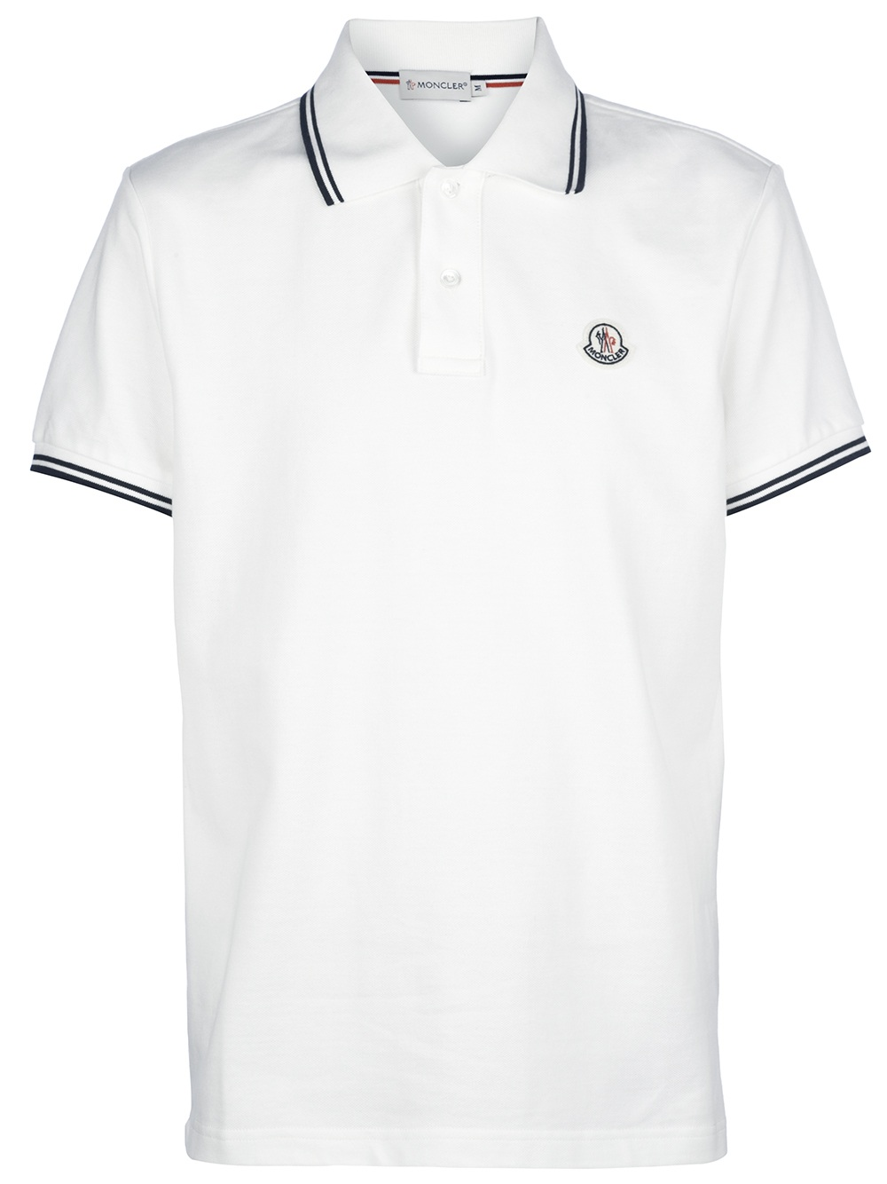 Moncler Classic Pique Polo Shirt In White For Men Cream