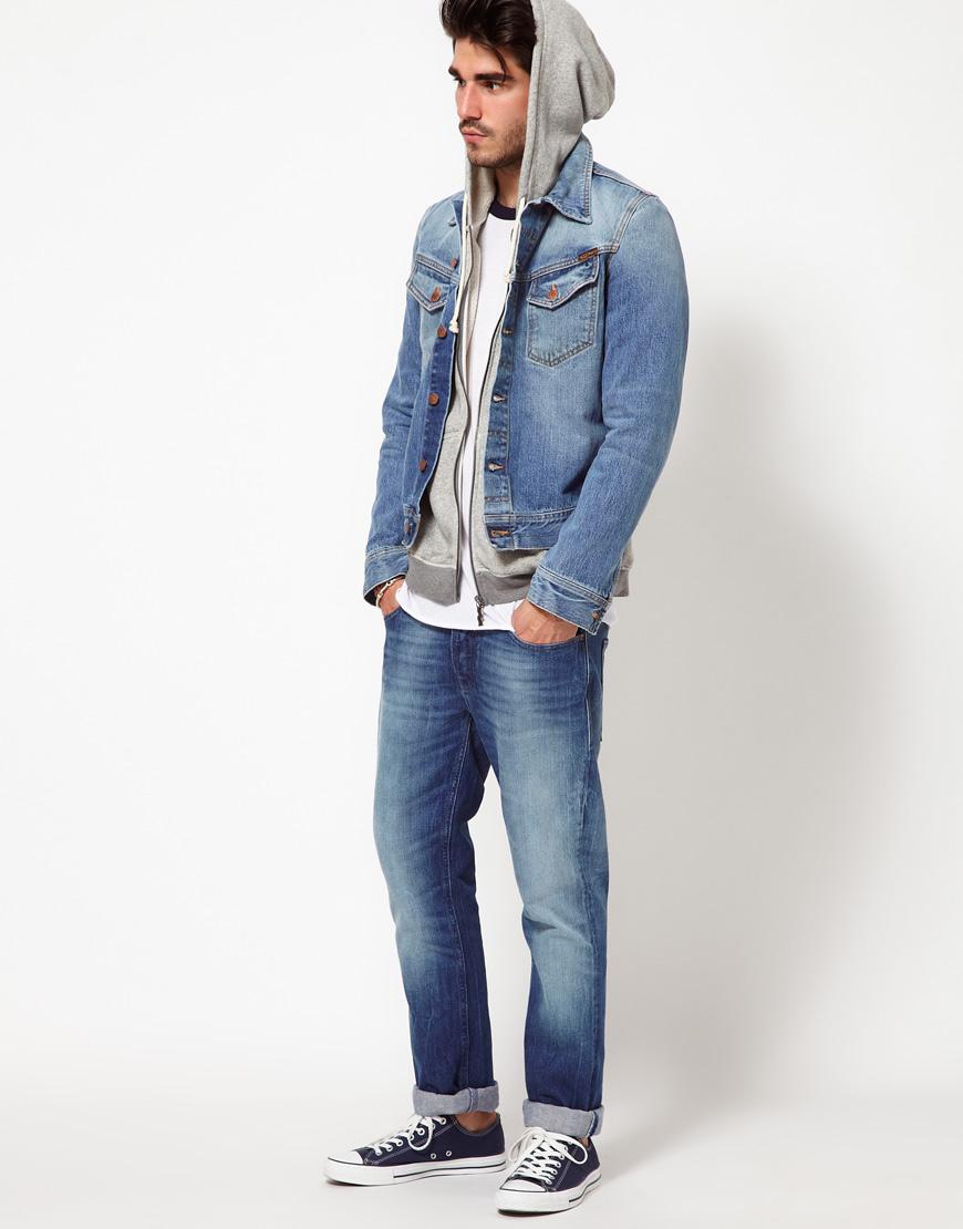 Nudie jeans Denim Jacket Conny Light Wash in Blue for Men | Lyst