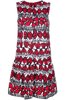 P.a.r.o.s.h. Ottoman Print Shift Dress - Lyst