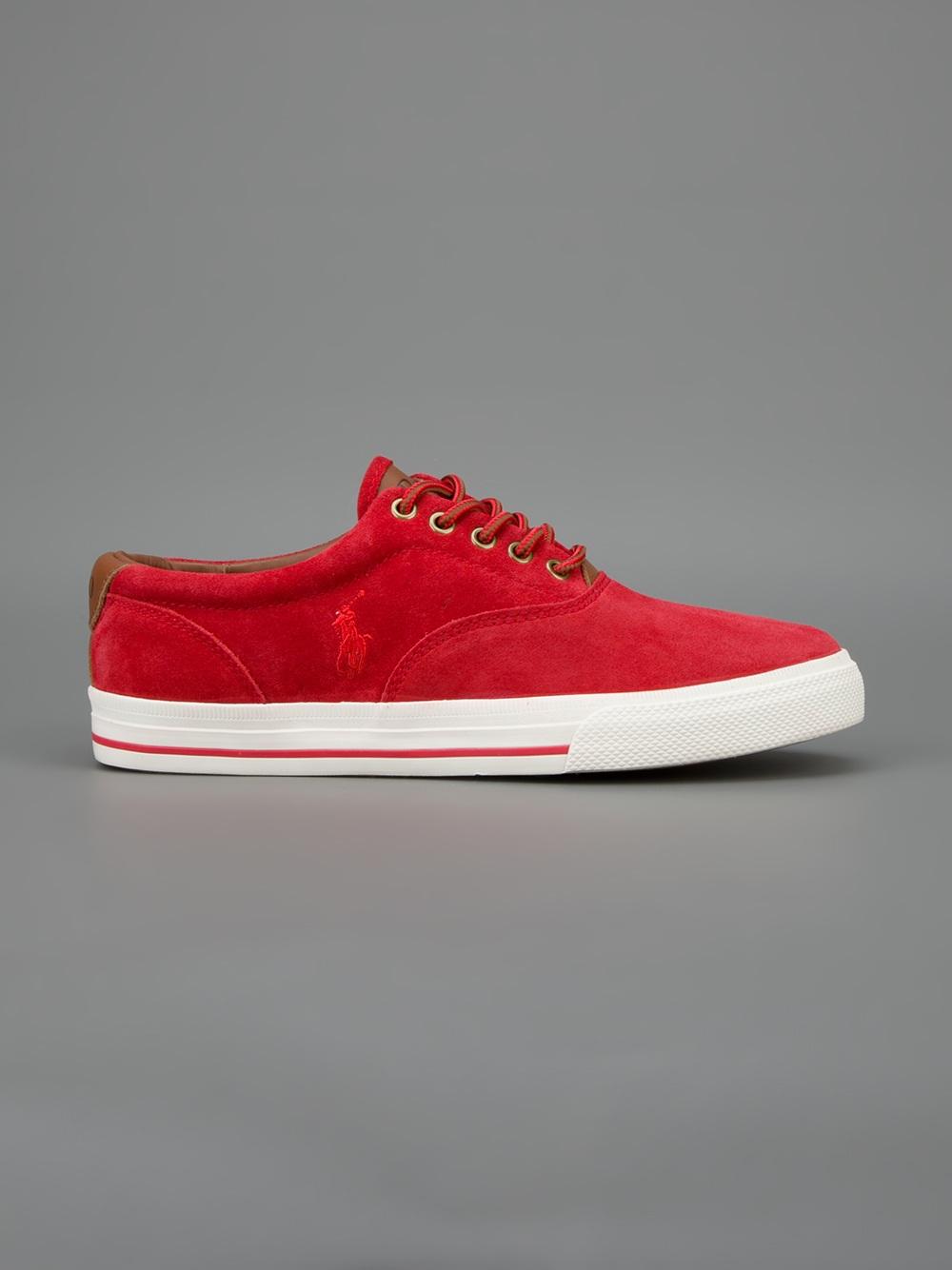 a3a036a6a600 Lyst - Polo Ralph Lauren Vaughn Sneaker in Red for Men