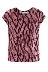 See By Chloé Knit Print Silk Top - Lyst