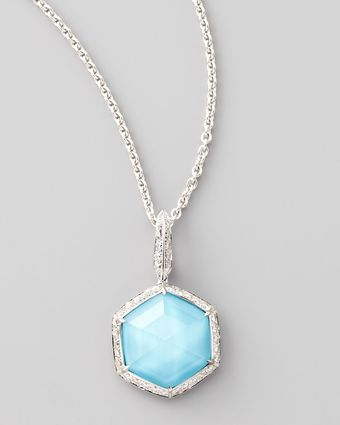 Stephen Webster Deco Mini Hexagon Pendant Necklace - Lyst