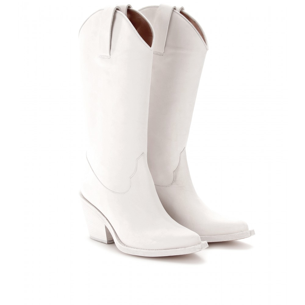 fe6a1a6a939ce Lyst - Acne Studios Brush Cowboy Boots in White
