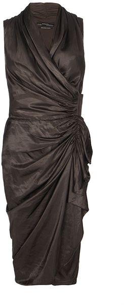 Allsaints Cancity Gloss Dress In Black Faded Black Lyst