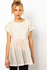 ASOS Collection Asos T-shirt with Pocket and Woven Hem - Lyst