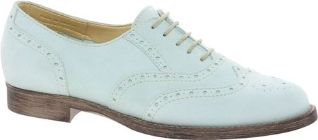 Asos Match Leather Brogues in Green (mint) - Lyst