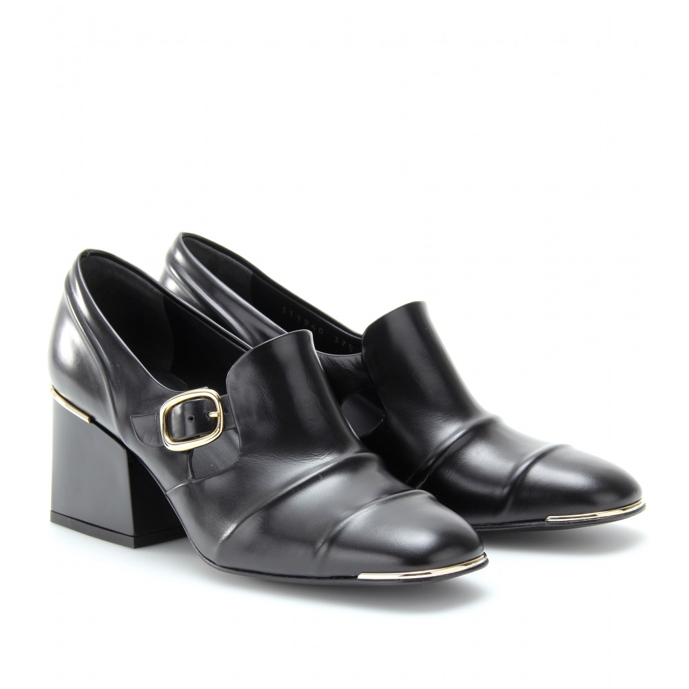 Block Heel Loafer Shoes